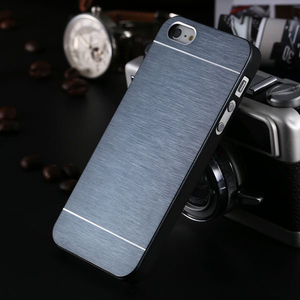 5S Aluminum Case Deluxe Gold Metal Brush Cover For Iphone 5 5S 5G  1810132892-5-navy blue for 5s