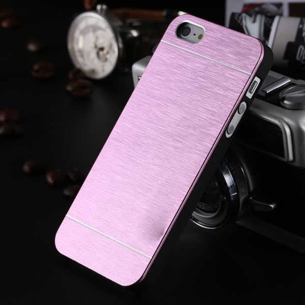 5S Aluminum Case Deluxe Gold Metal Brush Cover For Iphone 5 5S 5G  1810132892-6-pink for 5s