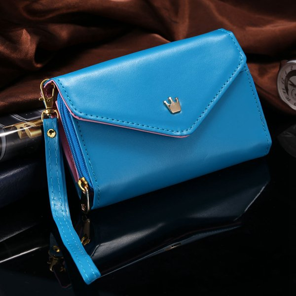 General Use Pouch Wallet Pu Leather Case For Iphone 5S, 4S, 6 4.7I 1035908080-7-deep blue
