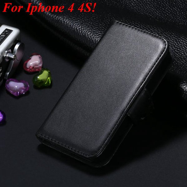 4S 5S Luxury Pu Leather Case Photo Frame Flip Cover For Iphone 5 5 1330267603-11-black for 4s