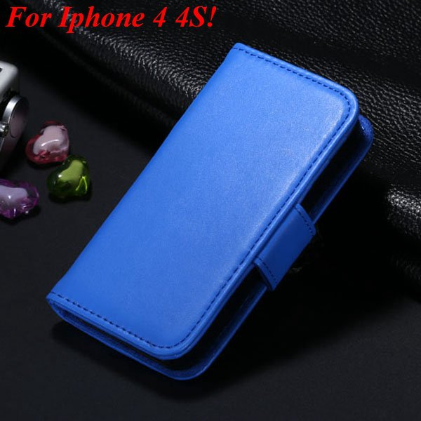 4S 5S Luxury Pu Leather Case Photo Frame Flip Cover For Iphone 5 5 1330267603-14-blue  for 4s