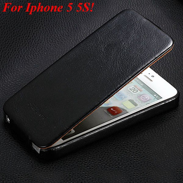 5S Pu Leather Cover Original Flip Case For Iphone 5 5S 5G Full Pro 1273814999-1-black for 5s