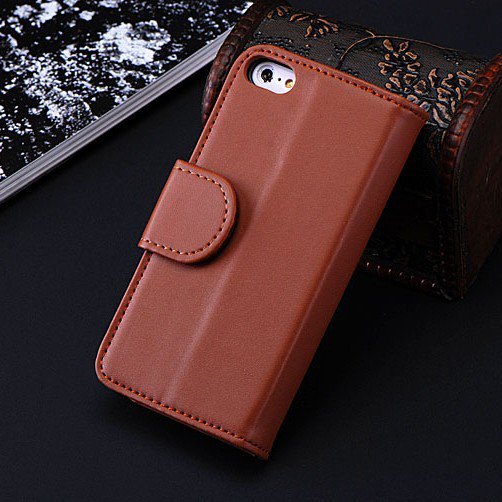5C Luxury Pu Leather Case Photo Frame Wallet Book Cover For Iphone 1330010949-2-Brown