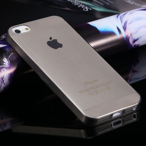 5S Clear Case 0.3Mm Soft Tpu Back Cover For Iphone 5 5S 5G Transpa 2023139390-1-black