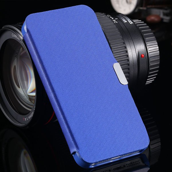 5S Magnetic Wallet Book Case Flip Pu Leather Cover For Iphone 5 5S 1057199030-5-blue