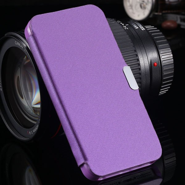 5S Magnetic Wallet Book Case Flip Pu Leather Cover For Iphone 5 5S 1057199030-6-purple