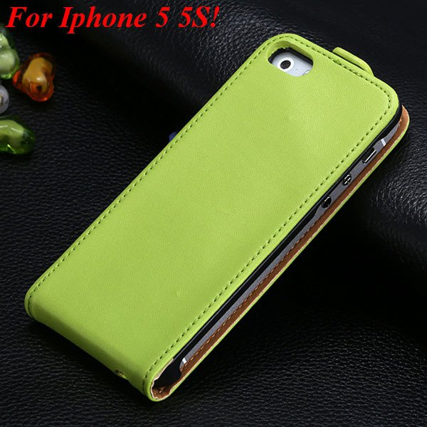 Luxury Genuine Leather Flip Cover Case For Iphone 5 5S 5G Full Pho 1336843246-6-5 5S Green
