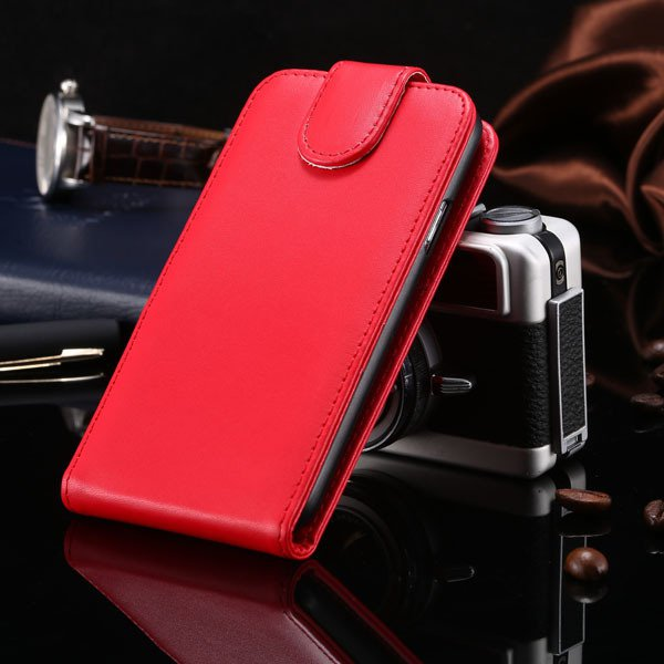 5S Flip Case Pu Leather Cover For Iphone 5 5S 5G Vertical Full Cov 1850210035-3-red