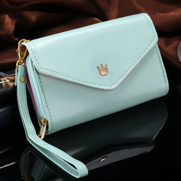 Women'S Fashion Lovely Crown Smart Pouch Phone Bags For Iphone 4 4 1246420393-3-sky blue