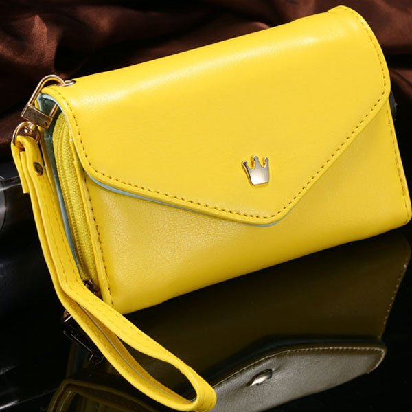 Women'S Fashion Lovely Crown Smart Pouch Phone Bags For Iphone 4 4 1246420393-6-yellow