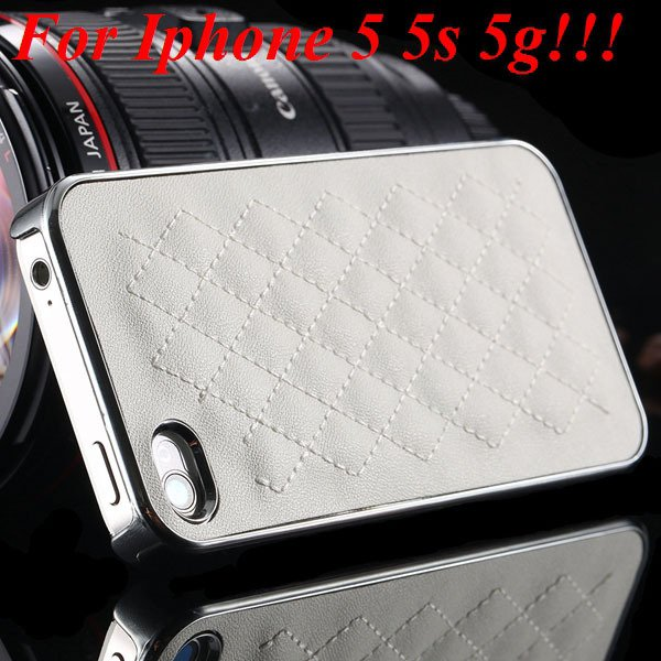 High Quality Pu Leather Case For Iphone 4 4S 4G 5 5S 5G Standard S 1810056459-2-5s silver and white