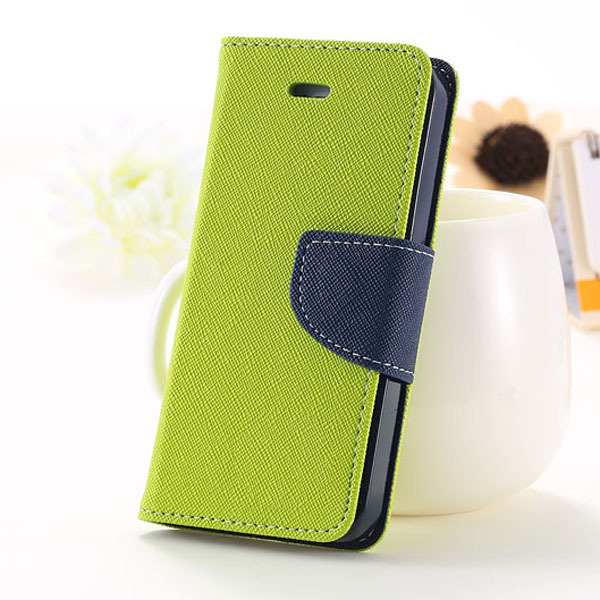 5C Case Wallet Book Style Full Case For Iphone 5C Colorful Flip Pu 1774245439-6-green