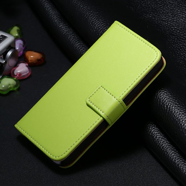 5C Genuine Leather Case For Iphone 5C Flip Wallet Cover Stand Func 1850663553-1-green