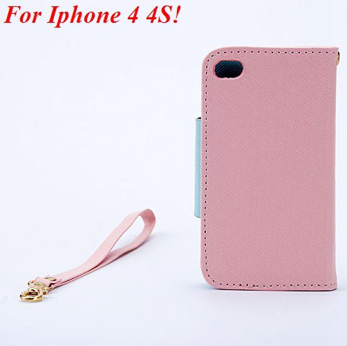 4S 5S Flip Case Wallet Leather Cover For Iphone 4 4S 4G 5 5S 5G Ph 1848716552-8-pink for 4S