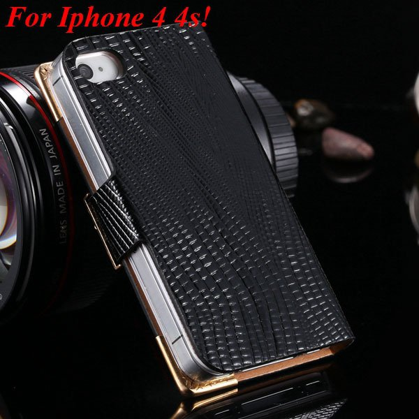 4S 5S Diamond Leather Case For Iphone 5 5S 5G 4 4S 4G Flip Wallet  1892017068-9-black  for 4s