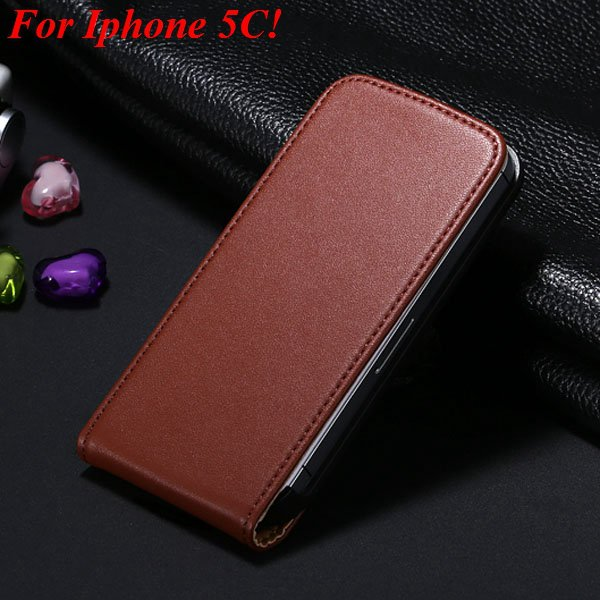 5C Genuine Leather Case Flip Cover For Iphone 5C Vertical Mobile P 1855464865-3-brown for 5C