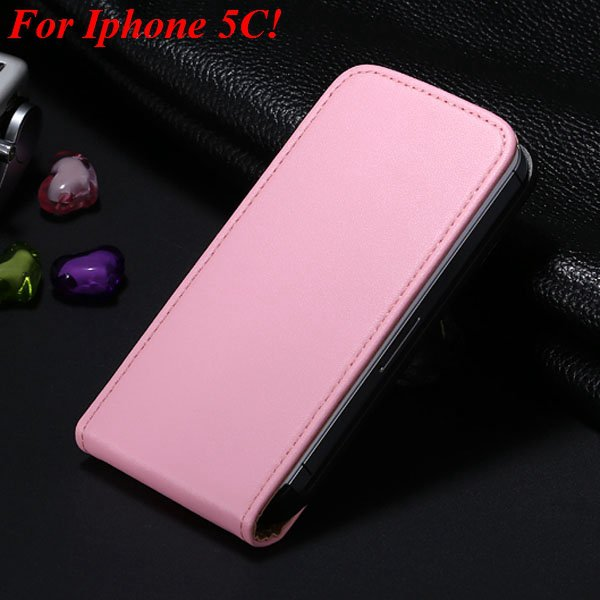 5C Genuine Leather Case Flip Cover For Iphone 5C Vertical Mobile P 1855464865-6-pink for 5C