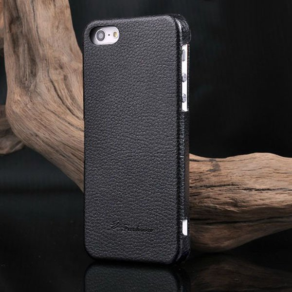 Unique Lychee Pattern Flip Genuine Leather Case For Iphone 5 5S 5G 1003880523-1-black