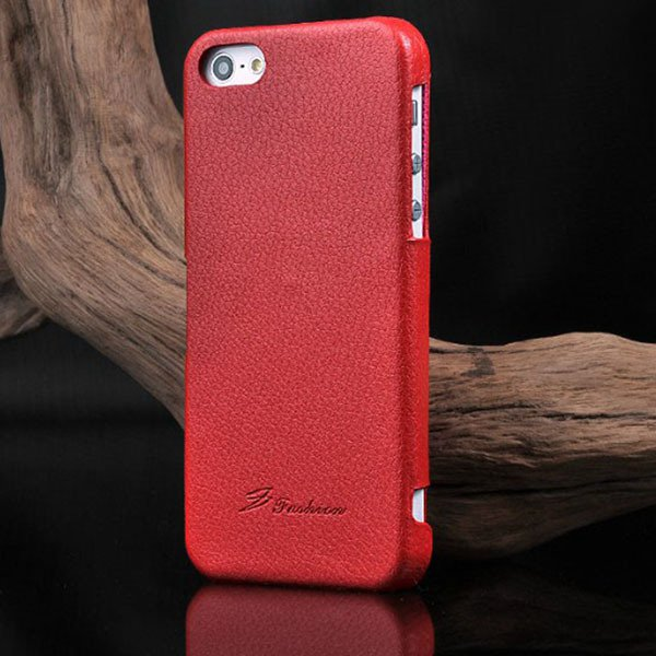 Unique Lychee Pattern Flip Genuine Leather Case For Iphone 5 5S 5G 1003880523-3-red