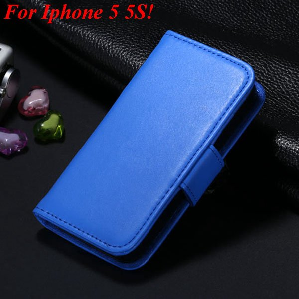 Full Flip Case For Iphone 5 5S 5G Cover Comprehensive Phone Bag Ph 2038369358-9-blue for 5S
