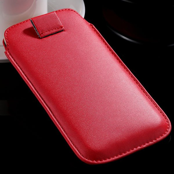 5S Universal Phone Case For Iphone 5 5S 5G 4 4S 4G Pu Leather Cove 32268093589-3-red