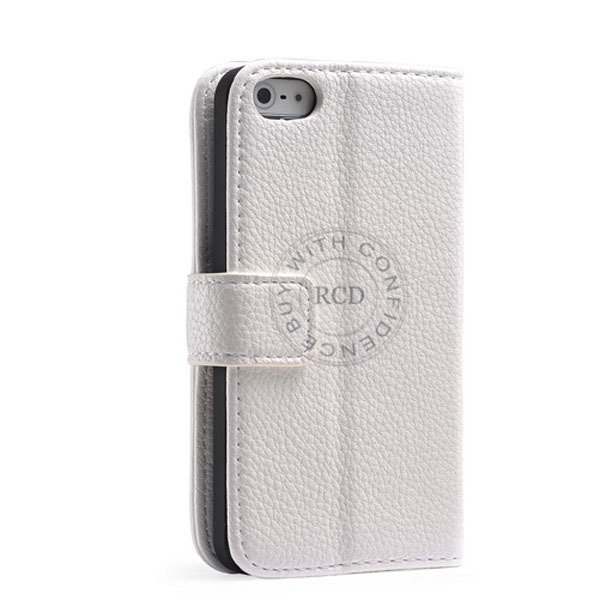 Luxury Wallet Leather Case For Iphone 5 5S 5G Original Cover With  1001913456-2-white