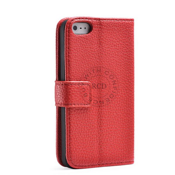 Luxury Wallet Leather Case For Iphone 5 5S 5G Original Cover With  1001913456-3-red