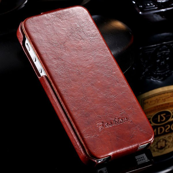 Retro Smooth Wax Feeling Full Cover For Iphone 5 5S 5G Pu Leather  32252012042-2-brown