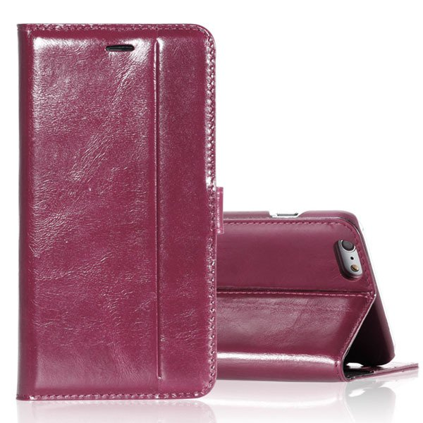 I5 Genuine Leather Case Flip Cover For Iphone 5 5S 5G Full Protect 32271073553-6-hot pink