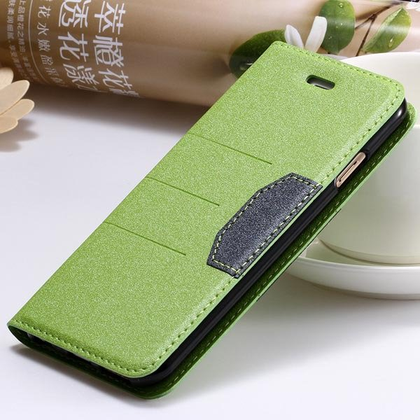 Full Leather Case For Iphone 5 5S 5G Flip Cover Mat Style With Sta 32247141210-2-green