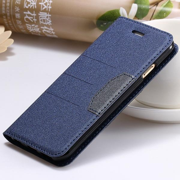 Full Leather Case For Iphone 5 5S 5G Flip Cover Mat Style With Sta 32247141210-5-deep blue