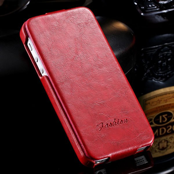 Retro Grease Glazed Pu Leather Cover For Iphone 5 5S 5G Full Prote 32251855587-5-red