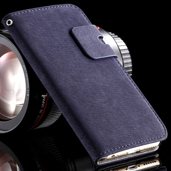 5S Flip Case Full Protect Cover For Iphone 5 5S 5G Pu Leather Pouc 32252232668-6-deep blue