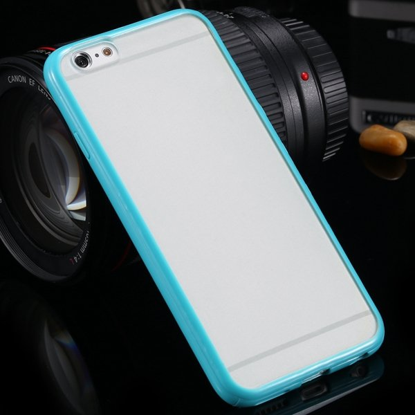 5C Mat Pc Case Clear Back Cover + Colorful Tpu Frame For Iphone 5C 32300973055-8-cyan