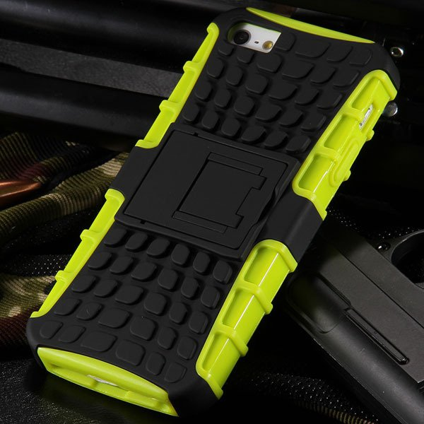 5S Heavy Duty Armor Case For Iphone 5 5S 5G Dual Protect Hybrid Ba 32303987983-5-yellow