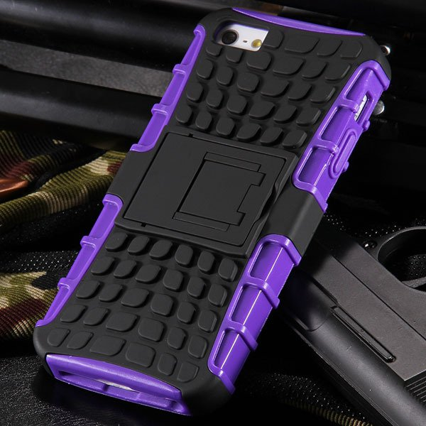 5S Heavy Duty Armor Case For Iphone 5 5S 5G Dual Protect Hybrid Ba 32303987983-6-purple