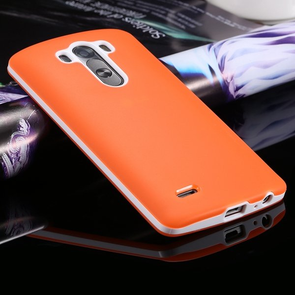G3 Soft Tpu Combo Case For Lg G3 Cover For D858 D859 Plastic Back  2024340846-2-orange