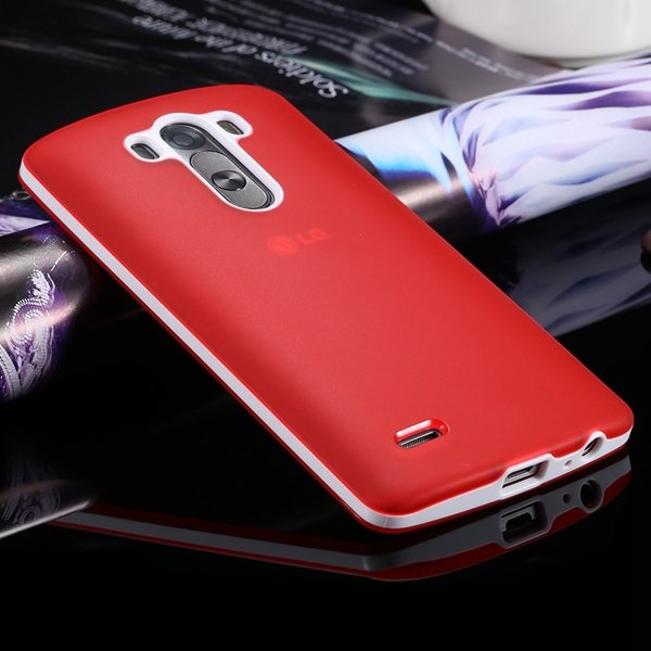 G3 Soft Tpu Combo Case For Lg G3 Cover For D858 D859 Plastic Back  2024340846-5-red