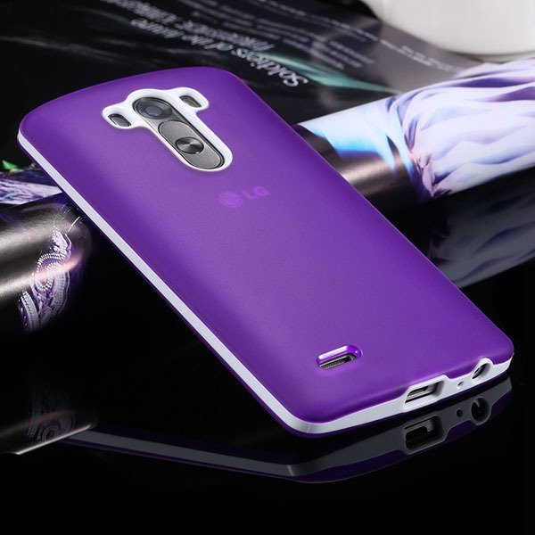 G3 Soft Tpu Combo Case For Lg G3 Cover For D858 D859 Plastic Back  2024340846-9-purple