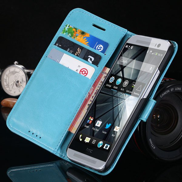 M8 Pu Leather Case For Htc One M8 Korea Flip Wallet Cover With Sta 1877644056-4-blue