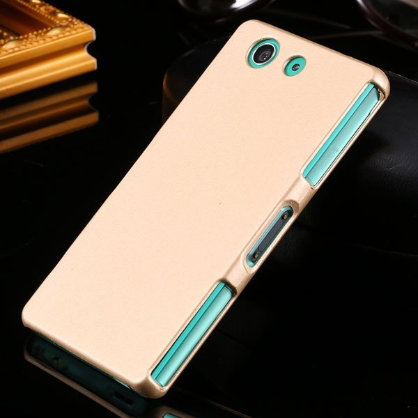 Z3 Mini Hard Case Ultra Slim Mat Lubricating Smooth Cover For Sony 32281411985-4-gold