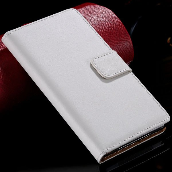Z1 Genuine Leather Case Wallet Cover With Magnetic Buckle For Sony 32275782788-2-white