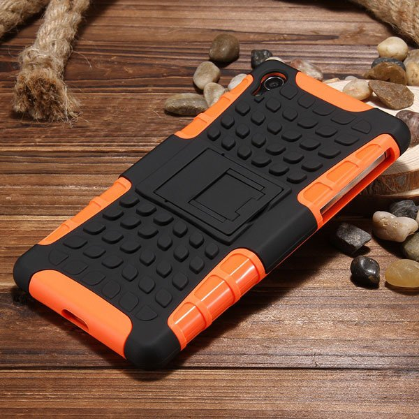 Z2 Armor Case Heavy Duty Back Cover For Sony Xperia Z2 L50W D6503  32274455562-5-orange