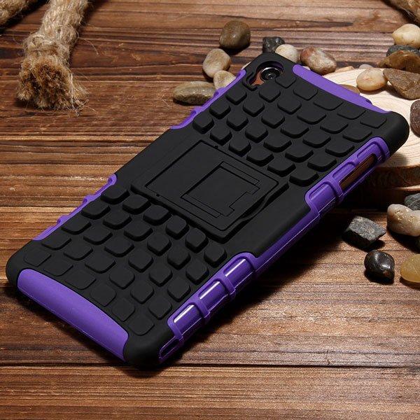 Z3 Heavy Duty Case 2 In 1 Armor Cover For Sony Xperia Z3 D6603 D66 32274162693-4-purple