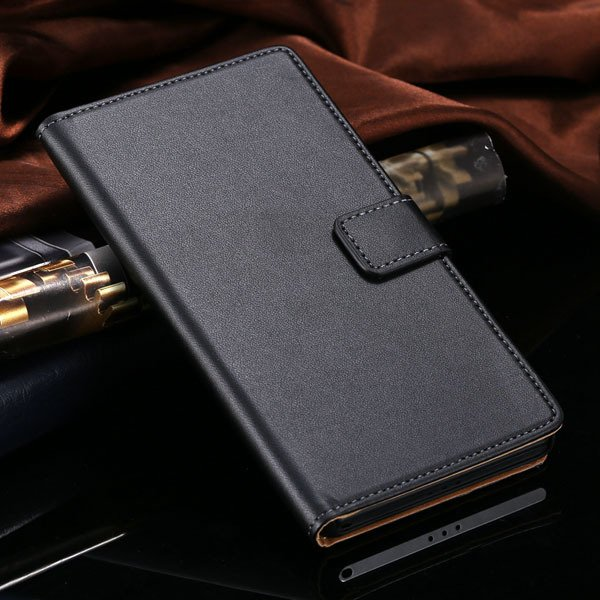 Hot Genuine Leather Wallet Case For Sony-Ericsson Xperia Z2 D6503  1821664329-1-black