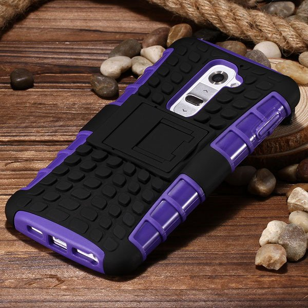 G2 Heavy Duty Armor Case For Lg Optimus G2 D802 D801 Hybrid Back C 32273825574-2-purple