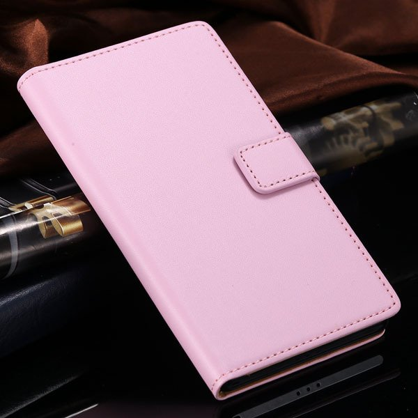 Luxury Genuine Leather Case For Sony-Ericsson Xperia Z2 (L50) D650 1821687771-5-pink