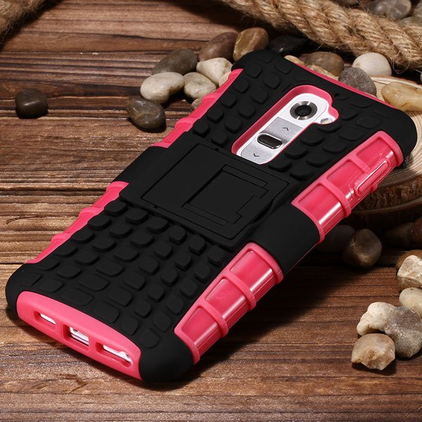 G2 Armor Case Heavy Duty Hybrid Cover For Lg G2 Optimus D802 D801  32274018481-3-pink