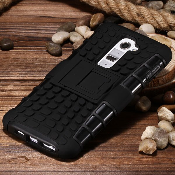 G2 Armor Case Heavy Duty Hybrid Cover For Lg G2 Optimus D802 D801  32274018481-5-black