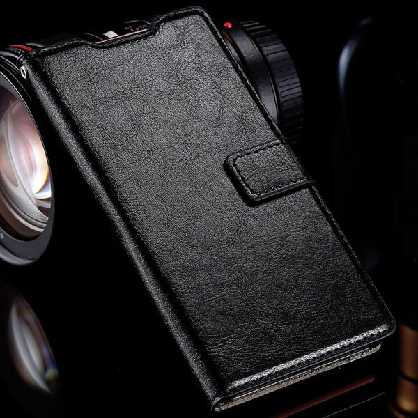 Z3 Luxury Pu Leather Case Vintage Wallet Book Cover For Sony-Erics 32283515946-2-black